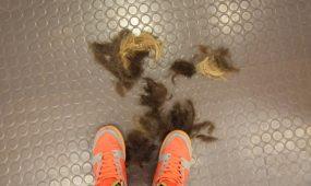 Hauber Hairsalon - Haar auf dem Boden