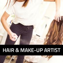 Hair und Makup Artist Beruf