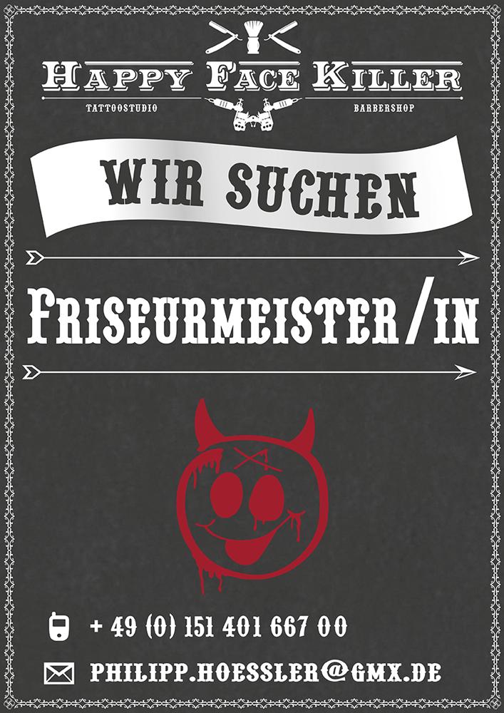 Friseurmeister gesucht bei Happy Facekiller in Horb am Neckar