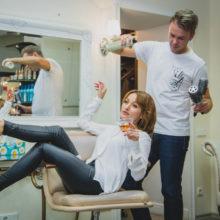 Jungunternehmer im Friseursalon