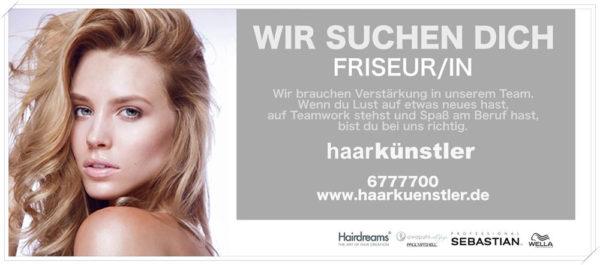 Haarkünstler Hamburg Stelllenanzeige